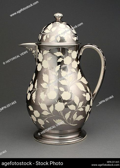 Jug with Cover - 1810/20 - England, Staffordshire - Origin: Staffordshire, Date: 1810–1820, Medium: Lead-glazed earthenware with lustre decoration