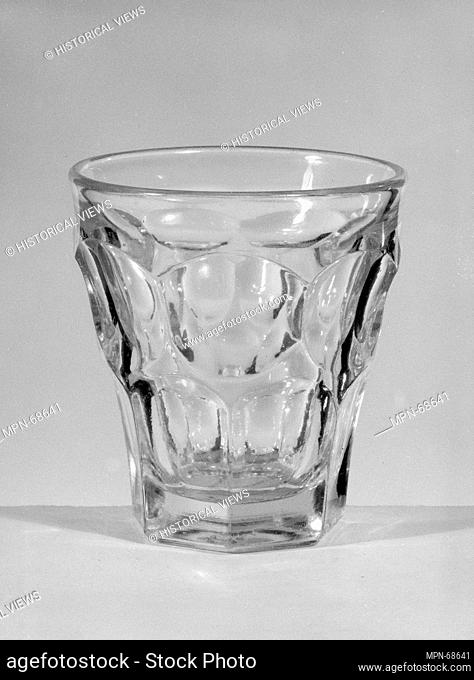 Tumbler. Date: 1830-70; Geography: Made in United States; Culture: American; Medium: Pressed glass; Dimensions: H. 3 1/2 in. (8.9 cm); Diam. 3 1/16 in