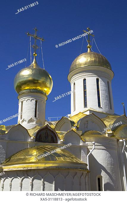 Holy Trinity Cathedral, The Holy Trinity Saint Serguis Lavra, UNESCO World Heritage Site, Sergiew Posad, Golden Ring, Russia