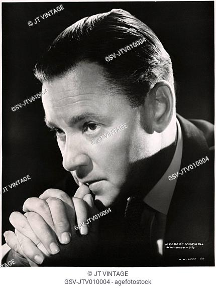 Herbert Marshall, Publicity Portrait for the Film, Foreign Correspondent, United Artists, 1940
