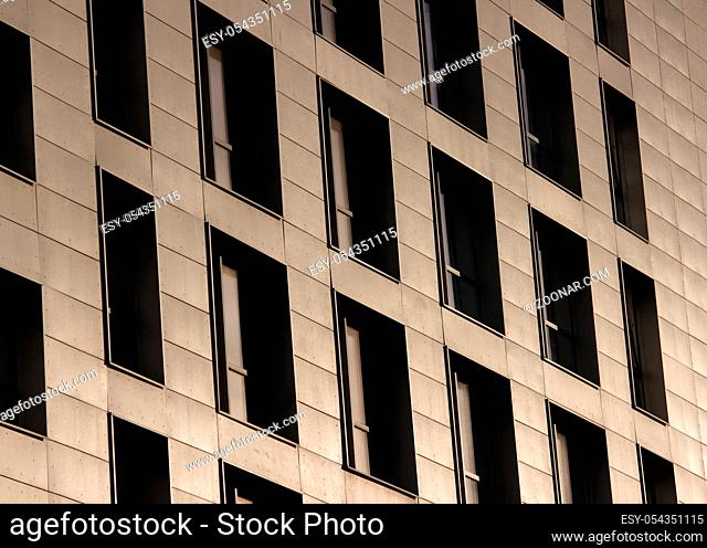 windows office building for background in Moscow