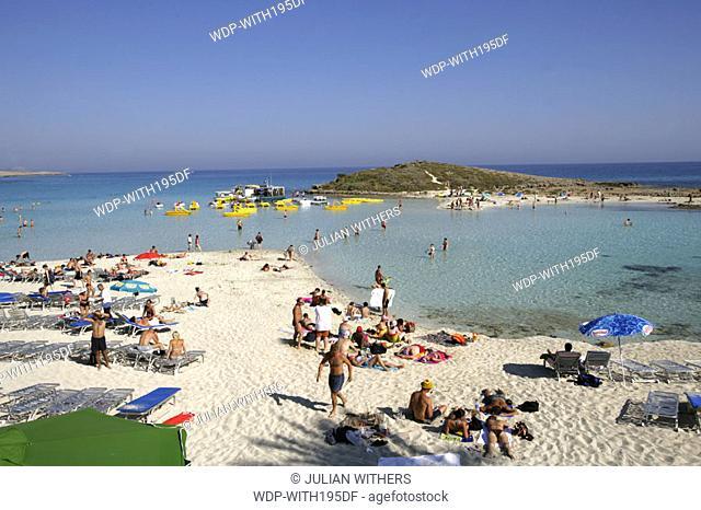 Desternation Cyprus resort Ayia Nappa /Nissi Beach looking South East