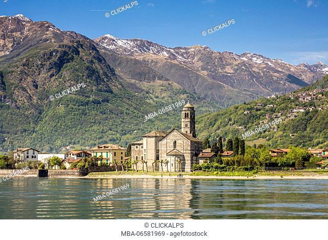 The Church of Santa Maria Del Tiglio and San Vincenzo, Gravedona, Lake Como, Lombardy, Italy