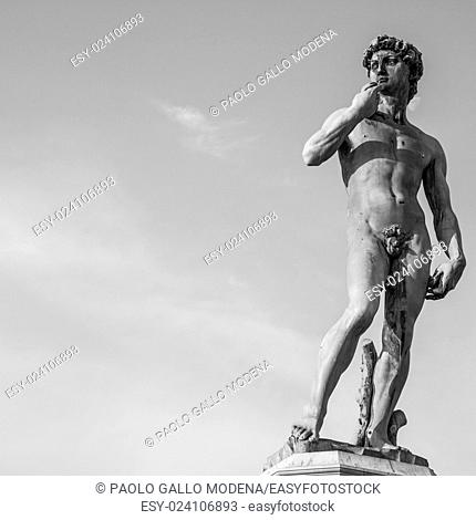 Copy of Michelangelo's David in Piazzale Michelangelo, Florence, Italy