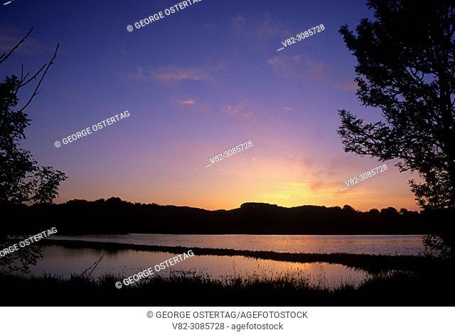 McFadden Marsh sunset, William Finley National Wildlife Refuge, Oregon