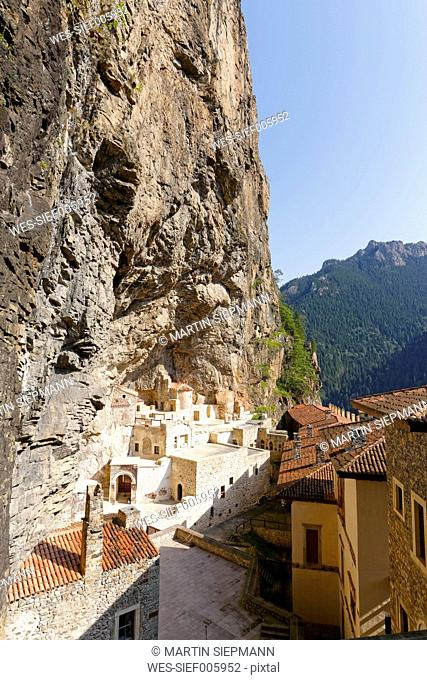 Turkey, Province Trabzon, Pontic Mountains, Sumela Monastery