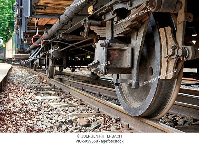 GERMANY, GANGELT, 08.07.2017, Selfkantbahn, Historical narrow-gauge railway, Schierwaldenrath, Heinsberg, North Rhine-Westphalia, Germany - Gangelt, Germany
