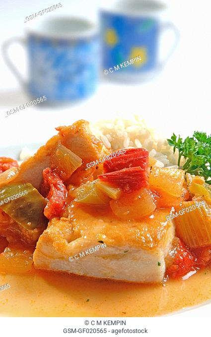 Grouper with creole sauce