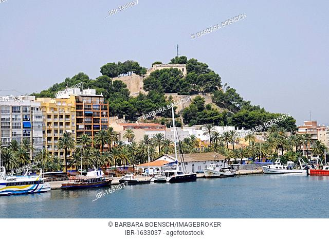 Castle, port, Denia, Costa Blanca, Alicante, Spain, Europe
