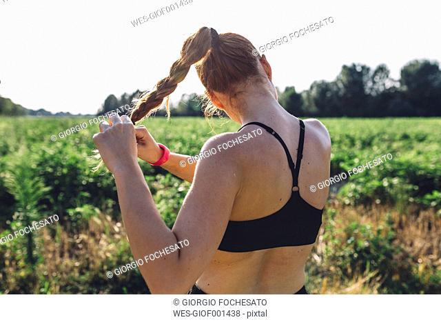 Italy, Tuscany, sportswoman