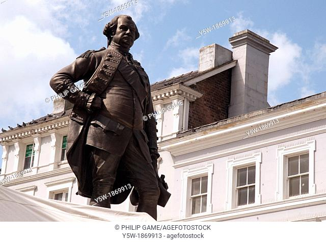 The great military commander and administrator Baron Robert, Clive of India, commands the The Square at the heart of Shrewsbury, county town of Shropshire