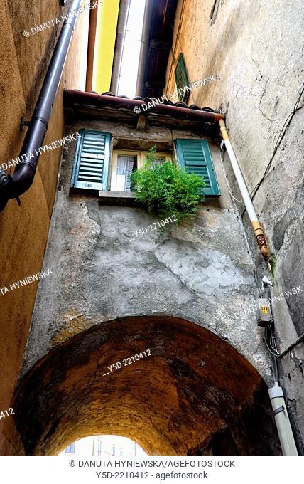 street scene, Menaggio,Lake Como, province Como, Lombardy, Italy
