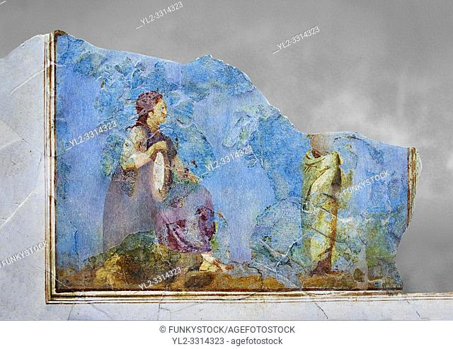 Roman fresco wall decorations from Villas of Rome. Museo Nazionale Romano ( National Roman Museum), Rome, Italy