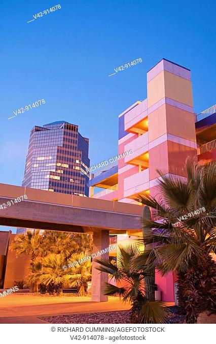 La Placita Village Parking Garage & Unisource Tower, Tucson, Pima County, Arizona, USA
