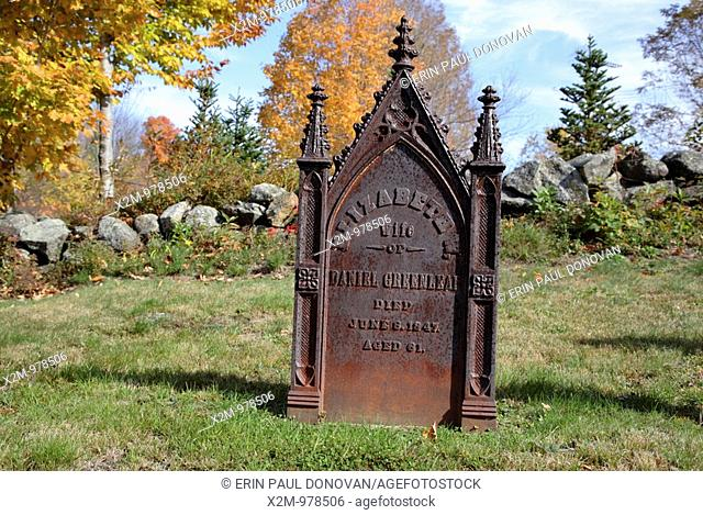 Old Cemetery on Millen Pond Road during the autumn months  Located in Washington, New Hampshire USA which is part of scenic New England