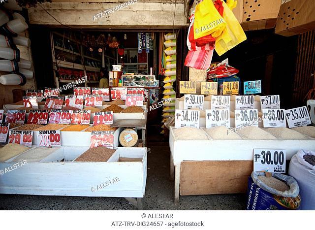 RICE & SPICE STALL; PUERTO PRINCESA, PHILIPPINES, ASIA; 23/04/2015