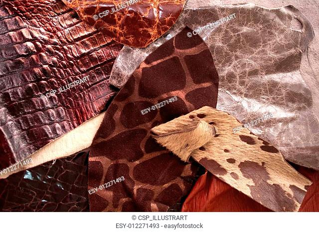 Different leather samples