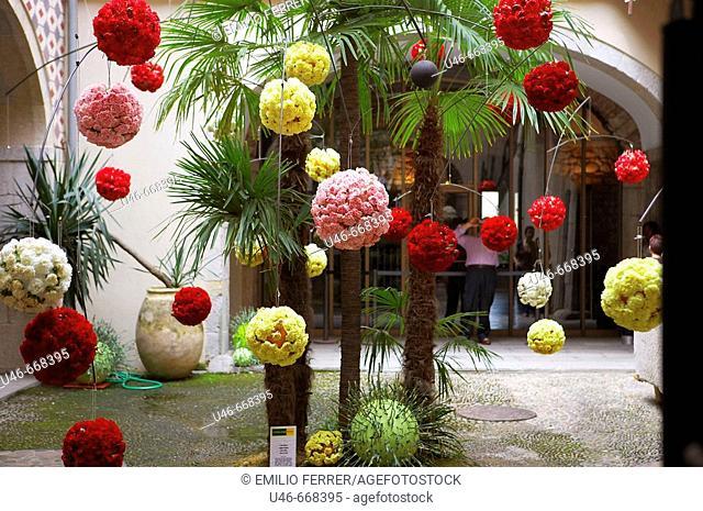 Floral art exhibition in Girona, Cataluña. Spain