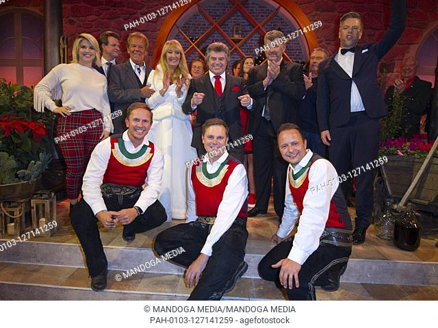 "Offenburg, Germany - November 26, 2019: SWR Television Show """"Weihnachten mit Andy Borg"""" with Semino Rossi, Johannes Kalpers, Lagana"