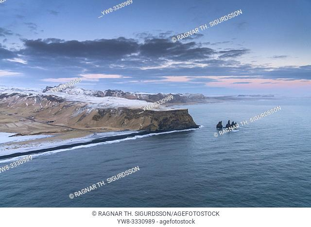 Reynisfjara beach, Mt. Reynisfjall, South Coast, Iceland