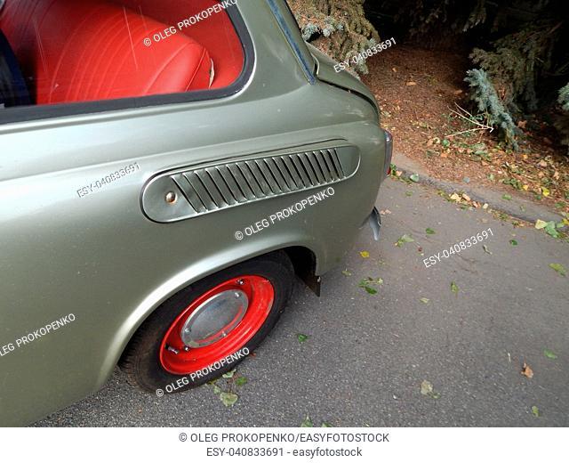 Retro cars antique parts and elements