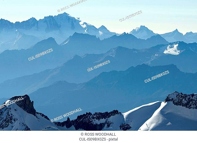 Mountain range, Chamonix, Rhone-Alps, France