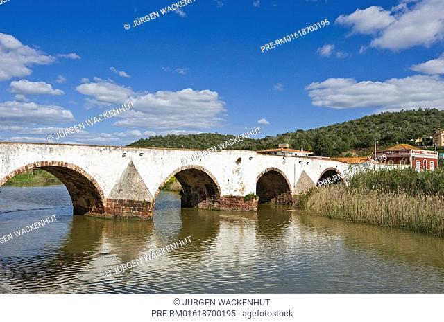Ponte Velho over Rio Arade in Silves city, Algarve, Portugal, Europe