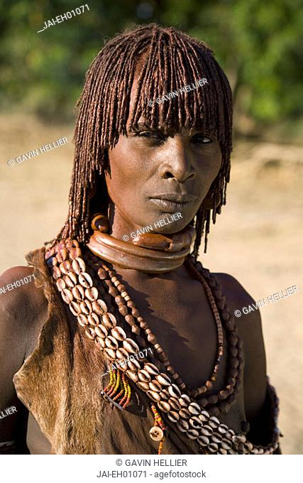 Hamer Woman, Hamer Tribe, Lower Omo Valley, Southern Ethiopia