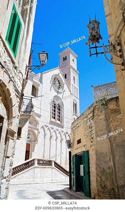 Cathedral view in Giovinazzo Oldtown. Apulia