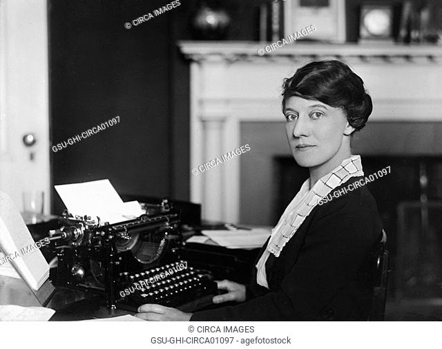 Woman Working in Office, USA, circa 1921