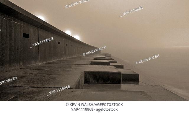 Sea mist at high tide