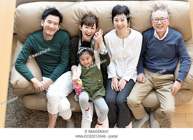 Image of three generations family