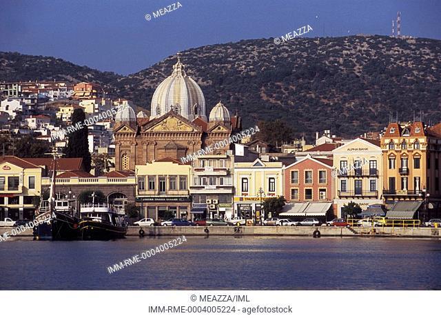 Mytilini, Saint Therapon Church, view, Greece: N E  Aegean, Lesvos