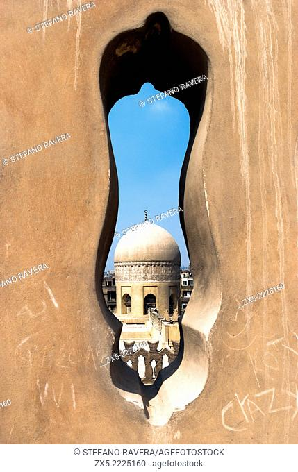 View Mosque-Madrasa of Emir Sarghatmish from the terrace of the Ibn Tulun Mosque - Cairo, Lower Egypt