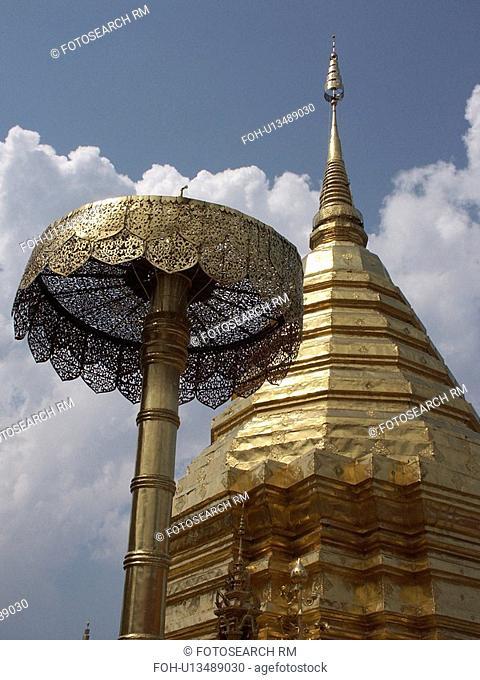 phra, 03, wat, stupa, thailand, thai
