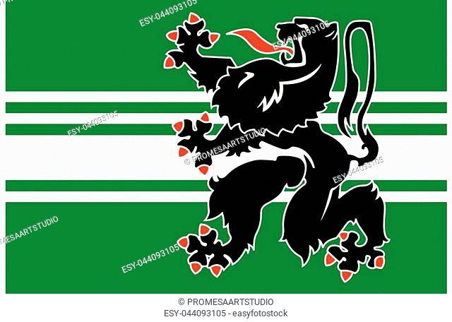 Flag of East Flanders Province, Belgium. Vector Format