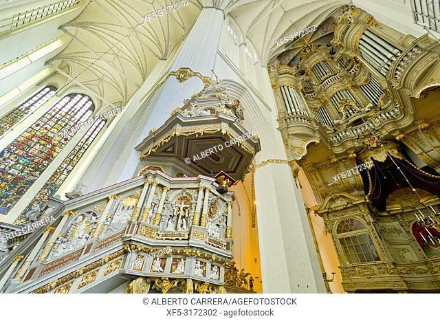St. Mary Church, St. Marien-Kirche, Marienkirche, Old Town, Rostock, Germany, Europe