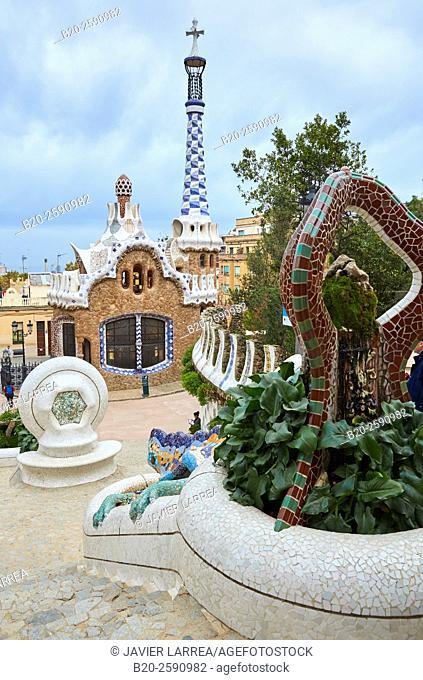 Park Güell by Antonio Gaudí. Barcelona. Catalonia. Spain