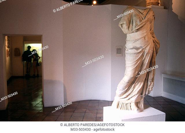 Museo de Cuenca. Roman statue. Segóbriga site. Cuenca. Castilla La Mancha. Spain