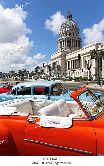 Cuba, Republic of Cuba, Central America, Caribbean Island. Havana City, Capitol