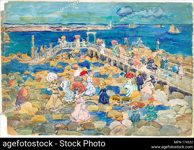 Low Tide, Beachmont. Artist: Maurice Brazil Prendergast (American, St. John's, Newfoundland 1858-1924 New York); Date: ca