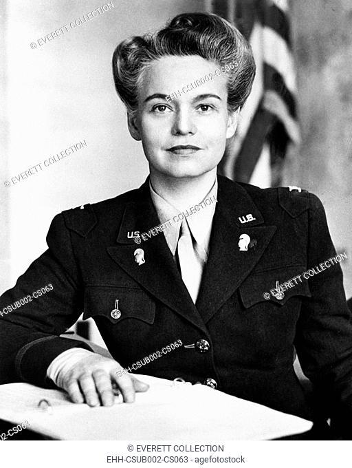 Colonel Oveta Culp Hobby, Commander of the U.S. Women's Army Corps during World War II. July 1943-July 1945. (CSU-2015-9-900)