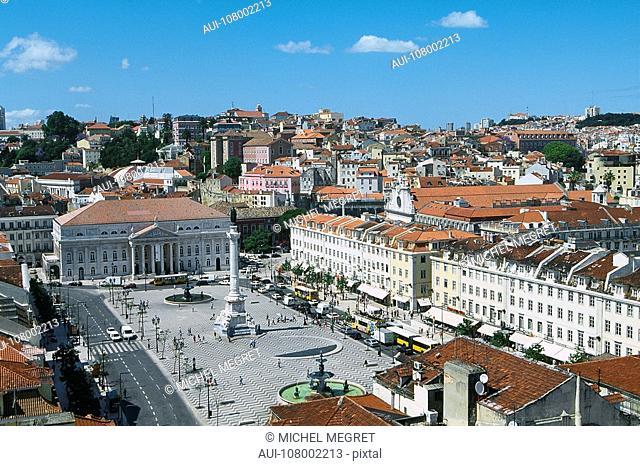 Portugal - Lisbon - Baixa Paþa Dom Pedro IV