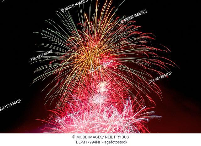 A firework display