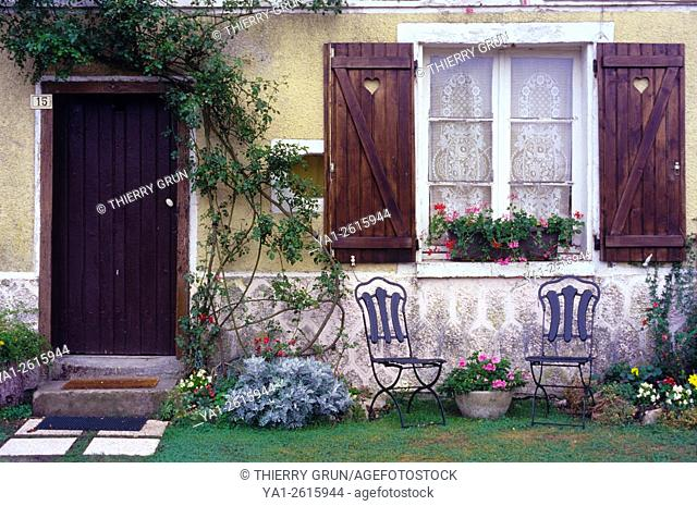 France, Meuse (55), village of Beaulieu en Argonne, old house