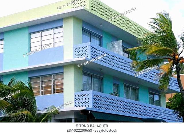 Miami South Beach Art Deco district