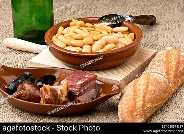 Asturian fabada, or simply fabada, is the traditional dish of Asturian cuisine made with Asturian faba (in Asturian, fabes)