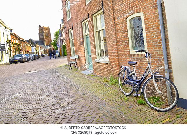 Street Scene, Traditional Architecture, Woudrichem, Noord-Brabant Province, Holland, Netherlands, Europe