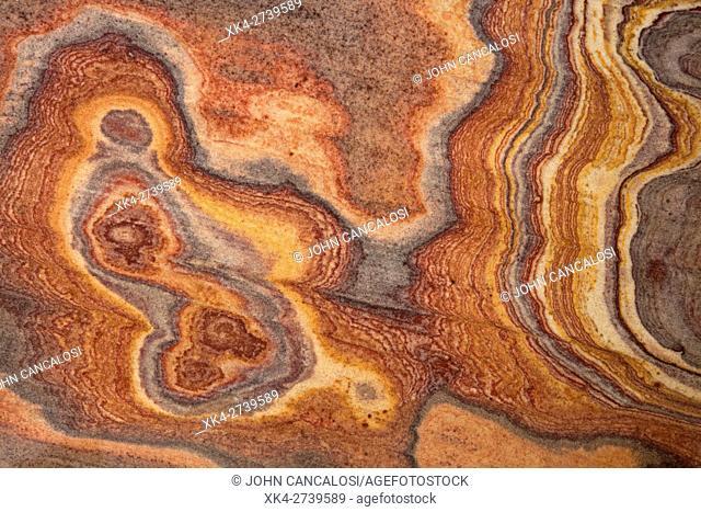 Sandstone, India, rainbow sandstone