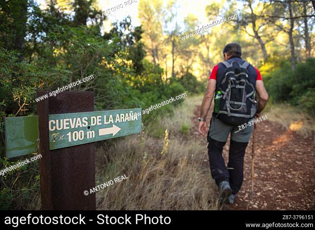 Route of the Cave of the Spider Massif of Caroche. Bicorp. Valencia